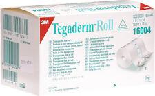 "3M Tegaderm Roll Transparent Film Dressings 4"" x 11yds (Each) # 16004"