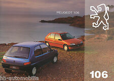 Peugeot 106 Prospekt 1994 11/94 F brochure Autoprospekt prospectus broschyr