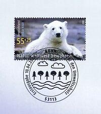 BRD 2008: oso polar Knut nr 2656 con agua limpia solo bonn etiquetas sello especial! 1a 1510