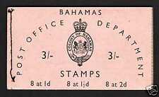 Bahamas 3/- Booklet  (1954) - Panes Reversed!