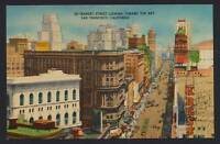Market Street San Francisco California linen postcard