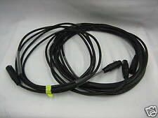 GENERICO BRAND STAGE LIGHTING 5 PIN DMX CABLES 10 FT black