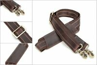 Adjustable Retro Leather Padded Shoulder Strap Briefcase Luggage Bag Replacement