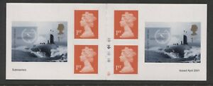 G.B. - 2001 SUBMARINES BOOKLET COMPLETELY IMPERFORATE SG.2207ab (REF.E16)