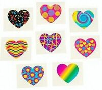 Funky Heart Temporary Tattoos - Princess Party Bag Fillers - Pack Sizes 6 - 36