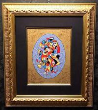 "A. KRASNYANSKY Original Hand Embellished Serigraph on Canvas ""PAIRS"", COA"