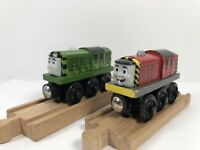 Thomas & Friends Salty Green & Red Lot Of 2 Wooden Magnetic Toy Trains Bundle