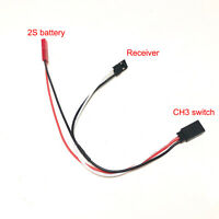 CH3 Channels Receiver Controlled Switch 2S Cable Car Light Remote For RC Car New