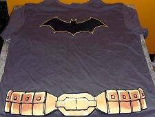 Batman Gray T-shirt Costume with Black Removable Cape Men's Xl New Dc Comics