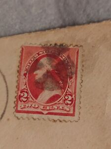 1893 Rare US Postage Stamp George Washington 2 Cent Carmine color Stamp