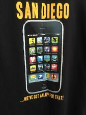 San Diego We go an app for that THE DUCK CO T SHIRT Black summer travel SIZE XL