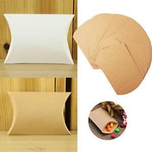 10/50/100pcs Pillow Favor Bag Candy Box Paper Gift Favour Wedding Party Simple