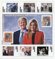 Liberia 2002 MNH Dutch Royalty Willem-Alexander & Maxima Beatrix 6v M/S Stamps