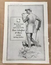 Hart Schaffner & Marx print ad 1922 vintage illus retro art spring clothes men's