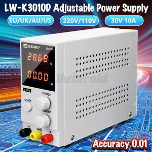 Regelbares DC Labornetzgerät 0-30V 0-10A Labornetzteil Netzgerät LED-Anzeige DE