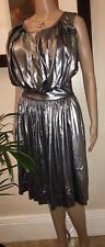 Vivienne Westwood ~ Anglomania Gardner Silver Pleat Dress 42
