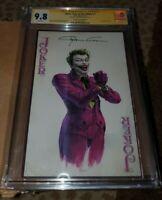 Joker Year Of The Villain 1 Clayton Crain Batman Variant CGC 9.8 SS signed