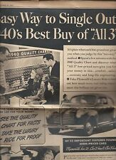 1940 Plymouth automobile ad; full page from Feb 25, 1940 New York Sunday News ro