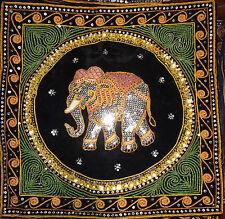 Kalaga Elephant Tapestry Decorative Cushion Cover with Colour Border 44cm size