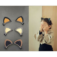2Pcs Lovely Sequins Cat Ears Girl Hairpin Hair Kid Hair Clips 6 Colors SR Cw