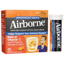 Airborne Triple Pack Effervescent Zesty Orange 30 Tabs
