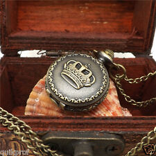 Retro  Leaves Vintage Style Pocket Watch Gears Parts Charm Chain Necklace NW-2