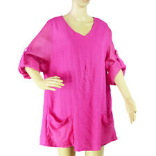 SOFT SURROUNDINGS Hot Pink Tunic Top Size Medium
