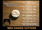 BROMELLO Font full Alphabet Stamp - Fondant Embosser Alphabet Stamp Cupcake