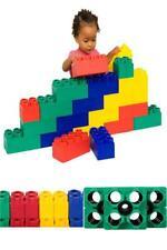 Jumbo Building Blocks Beginner Set Toddler Plastic Interlocking Bricks Toy 24 Pc