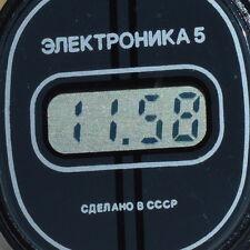 $ OLD VTG SOVIET RUSSIAN ELECTRONIC Digital LCD WATCH ELEKTRONIKA 5 passport BOX