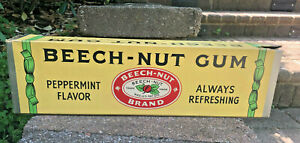 """Vintage Beech-Nut Chewing Gum Store Counter Display Box 15"""""""