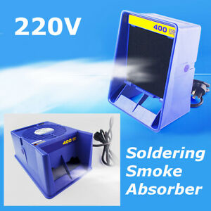 Soldering Solder Smoke Absorber Remover Fume Extractor Sponge Air Filter Fan