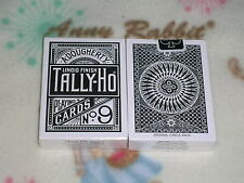 1 DECK BLACK Tally Ho Circle Back playing Cards S0998510