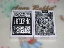 1 DECK BLACK Tally Ho Circle Back playing Cards