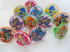 12 SPLATOON Rings cupcake toppers - birthday party favor pinata cake Wii U game