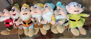 Lot Of 7 Disney Store Snow White and The Seven Dwarfs Bean Bag Plush Doll Toy