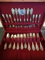 WALLACE GRANDE BAROQUE 30 PCS FOR 6 STERLING SILVER FLATWARE SERVICE SET