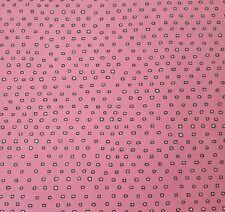 Pixie by Ink & Arrow BTY Tiny Irregular Square Polka Dot Blender Black Ecru Pink