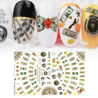 Foil DIY Manicure Money Dollar Nail Art Sticker 3D Adhesive Wealthy Rich Style