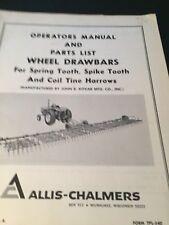 Original ALLIS-CHALMERS  Wheel drawbar harrow TPL-540 Manual  AC