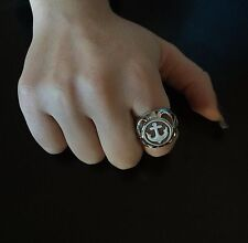 Anello in argento 925  cammeo ancora sardonico ring cameo Made in Italy