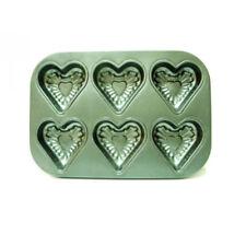 Muffinform Herz klein mini  Backform Kuchenform 6 er Aluguß grau  Backen Kochen