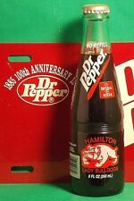 DR PEPPER 8oz BOTTLE Dublin Texas HAMILTON Lady BULLDOGS 1998 AA State Champs