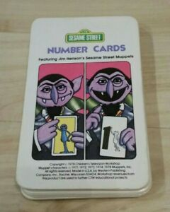 1978 Sesame Street See and Know Number Flash Cards Vintage Jim Henson Muppets
