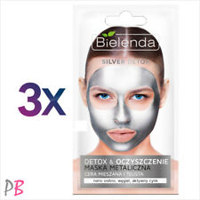 Bielenda 3x SILVER DETOX Cleansing Metallic Face Mask for Combination Oily Skin