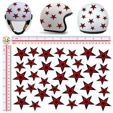 Adesivi casco stelle rosso nere sticker helmet tuning stars red black 32 pz.