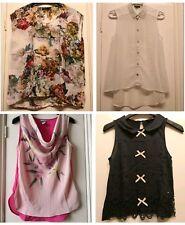 TopShop H&M Women's floral smart shirts tops size 8