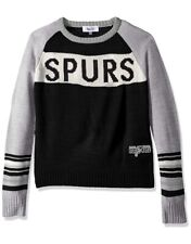 San Antonio Spurs Womens Sweater Small Alyssa Milano Team Spirit Crew Neck NEW