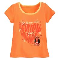 Disney Store Authentic Moana Ringer T Shirt Tee Girls Size 4 5/6 7/8 10/12 NWT