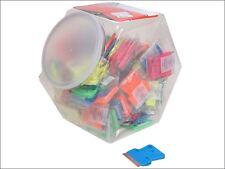 Personna - Neon Plastic Mini Scraper Jar of 100 Single Blades